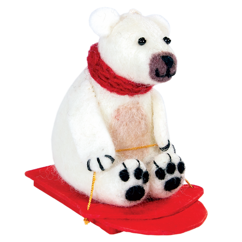 Sledding Polar Bear