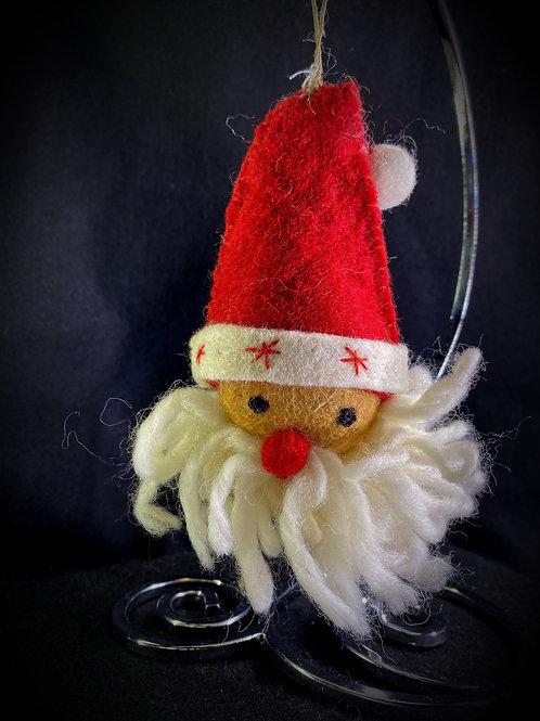 Felt Santa Face Ornament