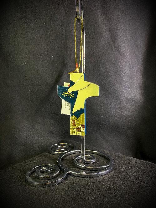 Dove over Bethlehem Cross Ornament
