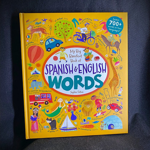 Spanish and English Words Book