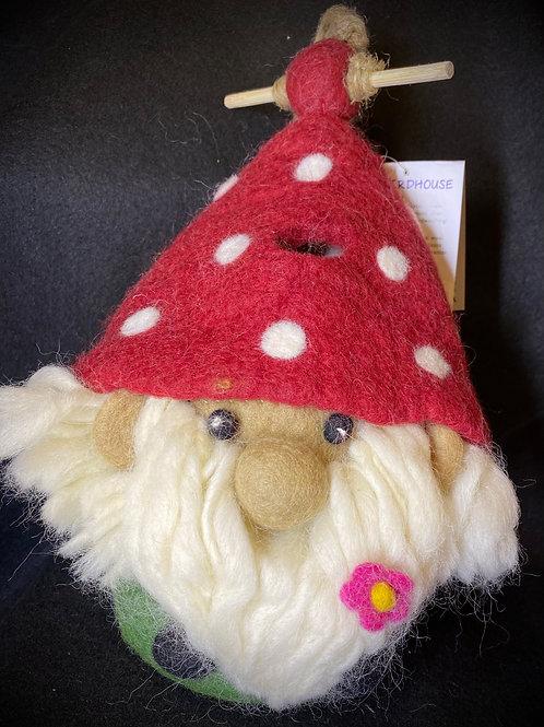 Felt Gnome Birdhouse