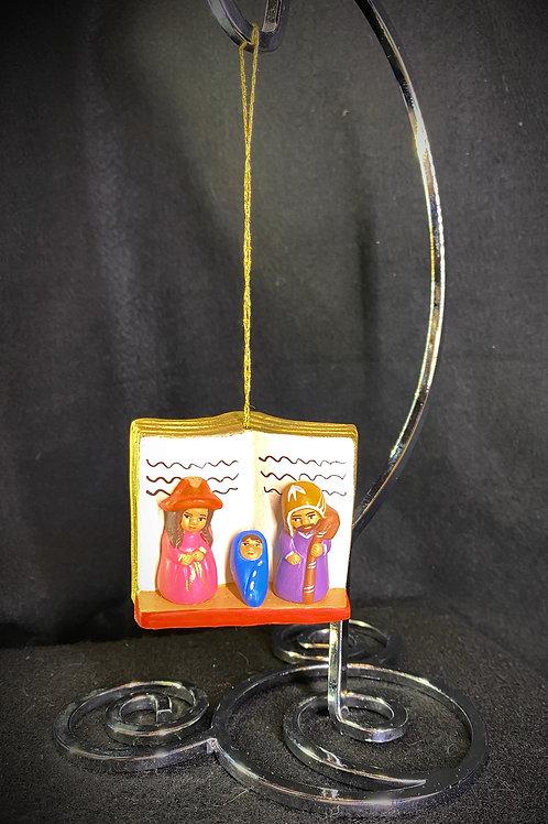 Clay Nativity Ornament
