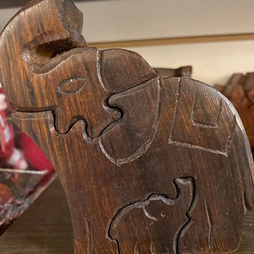 Elephant with Baby Puzzle box
