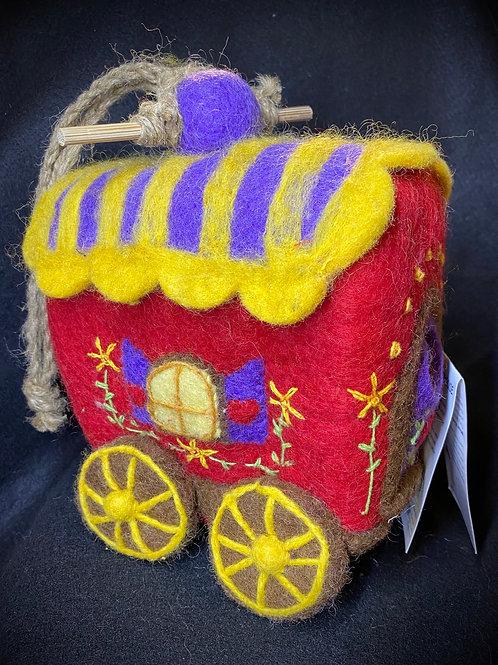 Felt Gypsy Wagon Birdhouse