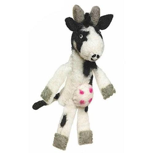 Woolie Cow Finger Puppet