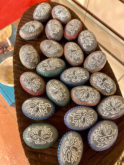 Lotus Engraved Stone