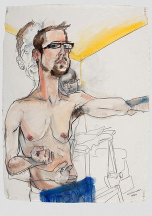 Self Portrait (after Schiele)