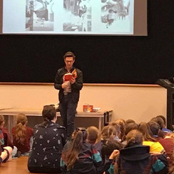 George Ivanoff speaks to students at St Augustine's College