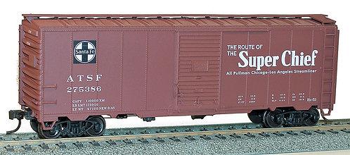 (HO) 40' AAR S/D Steel Boxcar Kits - Santa Fe