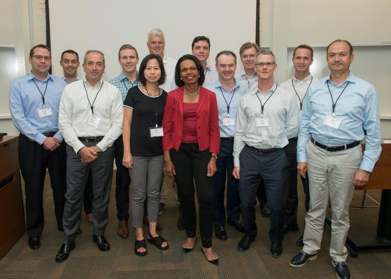 Me and a few of my fellow program participants with Condoleezza Rice after her presentation
