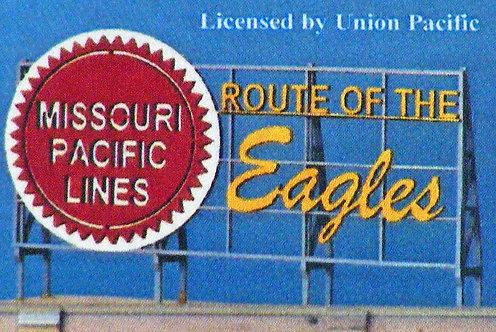 (Z,N,HO) Laser-Cut Wood Rooftop Billboard Kit - Missouri Pacific