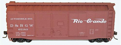 (HO) Freight Car Kits - 40' AAR D/D Boxcar Kit - Denver & Rio Grande Western  DR