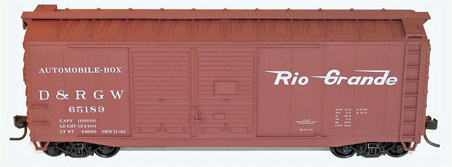 (HO) Accurail Boxcar Kits- D&RGW