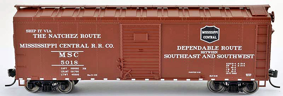 (HO) Bowser 40' Boxcar - Mississippi Central Railroad Co.