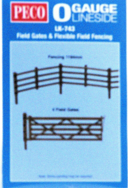 O Scale Scenery Kit - Field Fencing & Gates