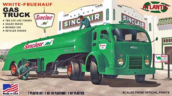 (O) 1:48 Scale Plastic Model Kit - White-Fruehauf Gas Truck