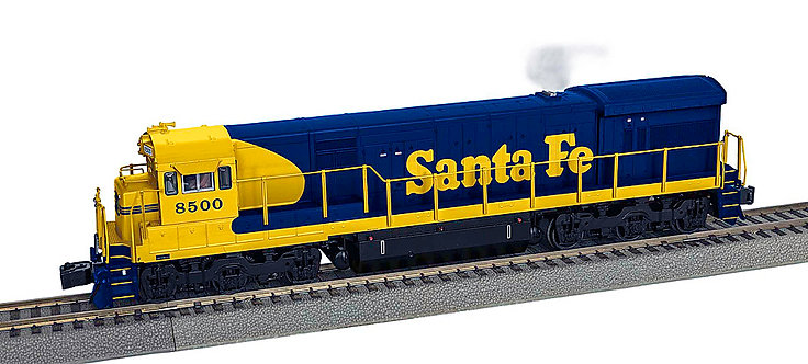 S Gauge Santa Fe U33C Diesel Locomotive