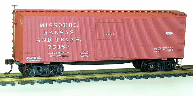 (HO) Accurail 36' Boxcar Kit - Missouri Kansas & Texas