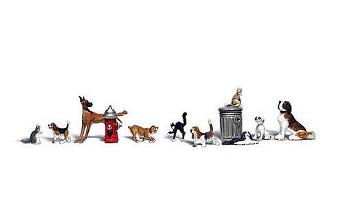 Figure Set - Dogs & Cats