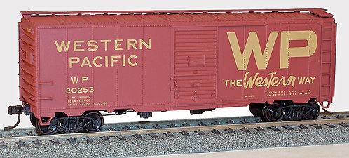 (HO) 40' AAR Steel Boxcar Kit - Western Pacific