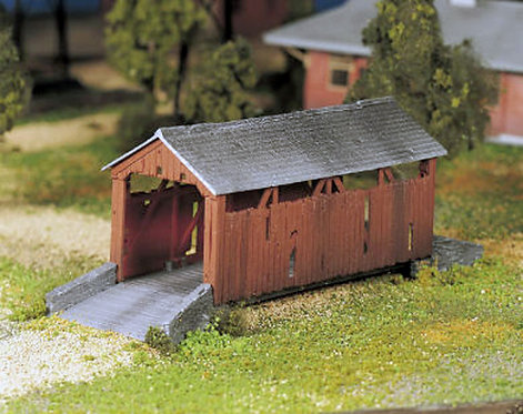(O) Plastic Structure Kit - Covered Bridge