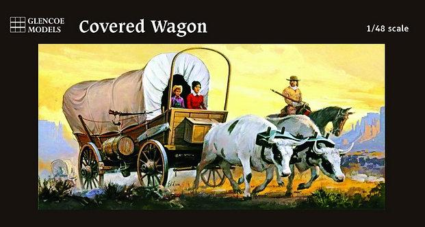 (O) 1:48 Scale Plastic Model Kit - Covered Wagon
