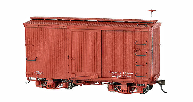 On30 Narrow Gauge 18' Boxcar - Oxide Red (Data Only) - 2/Pk