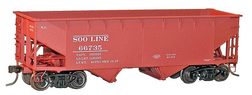 (HO) Accurail Twin Hopper Kit - Soo Line