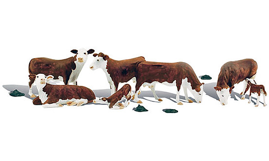 (O) Figures - Hereford Cows