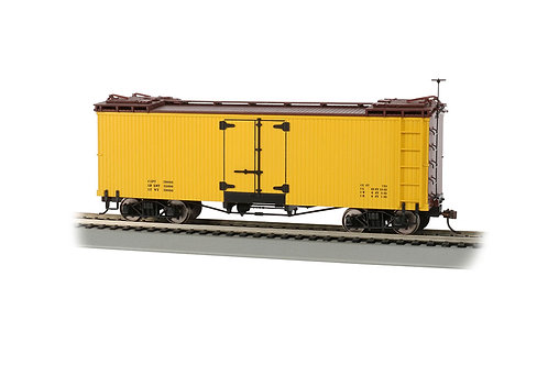 On30 Reefer - Yellow w/Brown Roof & Ends, Data Only