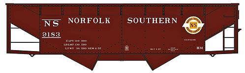 (HO) 50 Ton O/S Twin Hopper Kit - Norfolk Southern