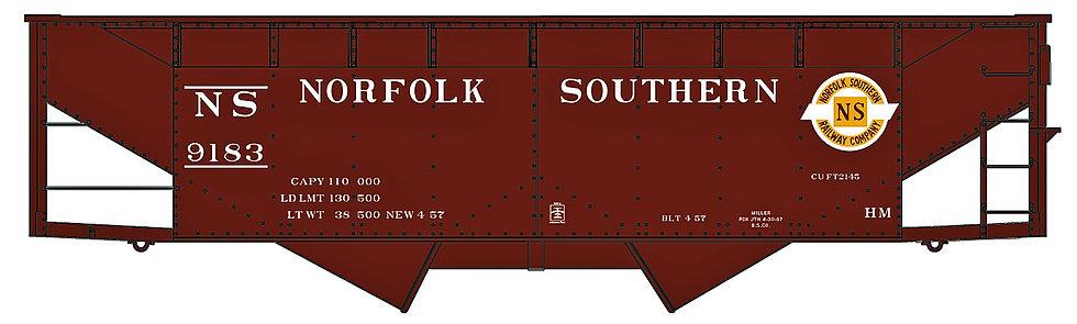 (HO) AccurailTwin Hopper Kit - Norfolk Southern
