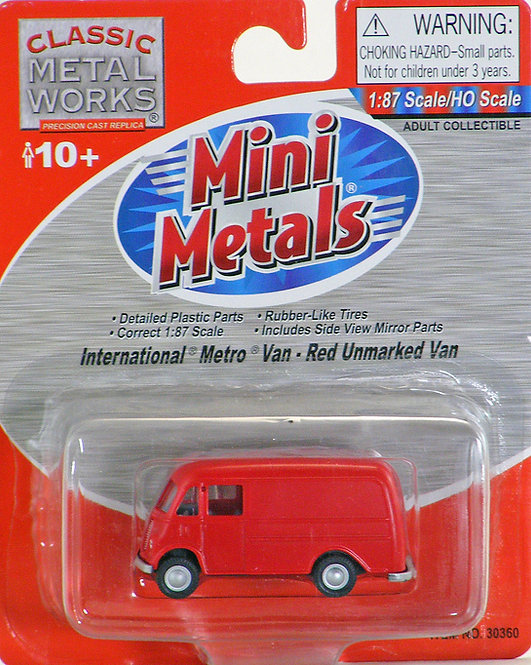 (HO) International Metro Van - Red