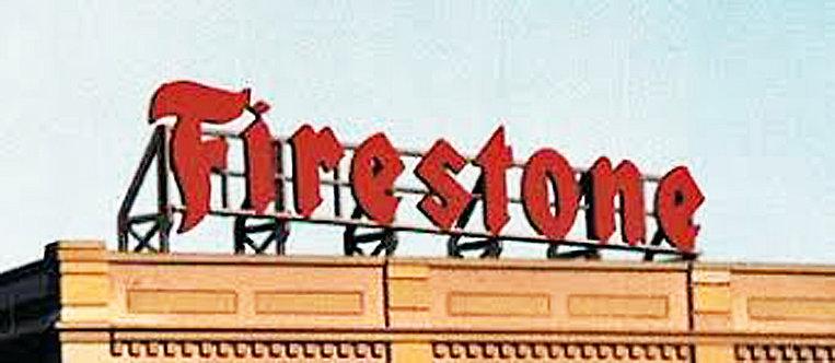 (HO,S,O) Laser-Cut Wood Rooftop Billboard Kit - Firestone