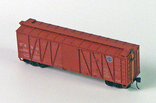 (HO) 40' S/S Wood Boxcar Kit - Southern Pacific / Texas & New Orleans