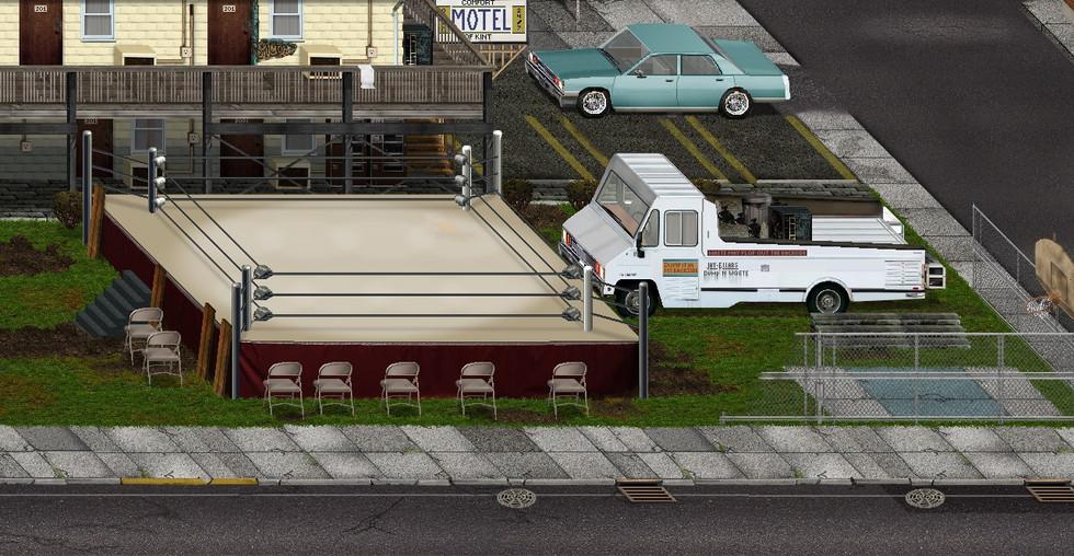 Motel Boxing Ring