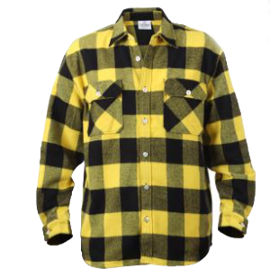 Extra Heavyweight Yellow Plaid Flannel
