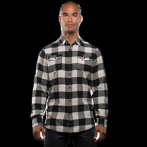 Men's Ecru Black Flannel