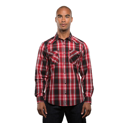 Red Western Flannel