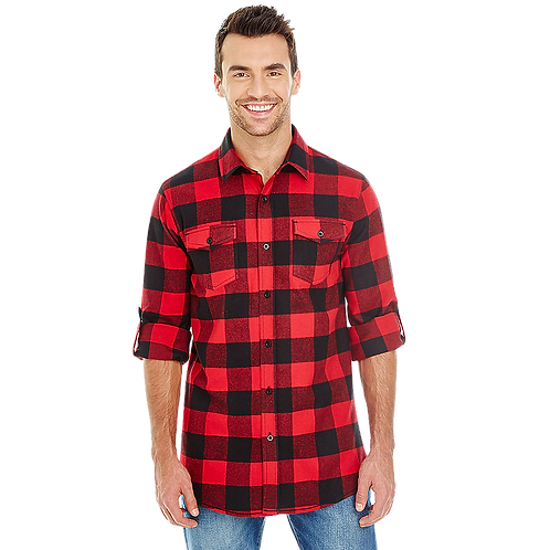 Men's Black/Red Flannel