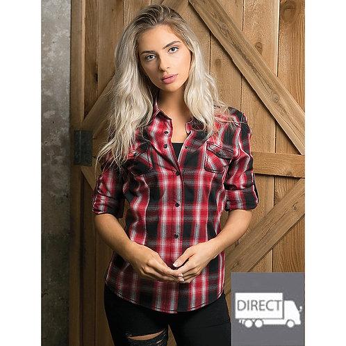Red Plaid Western Flannel