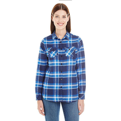 Women's Blue and White Flannel