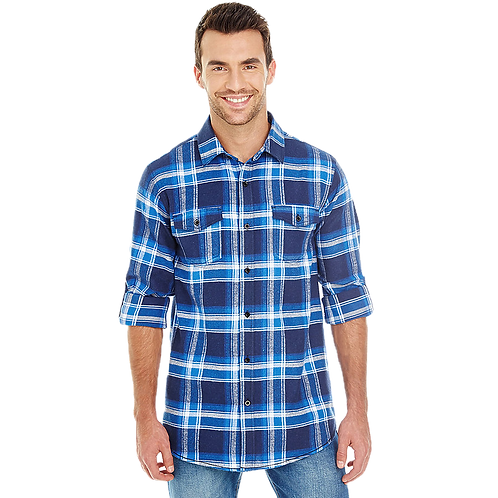 Unisex Blue and White Flannel