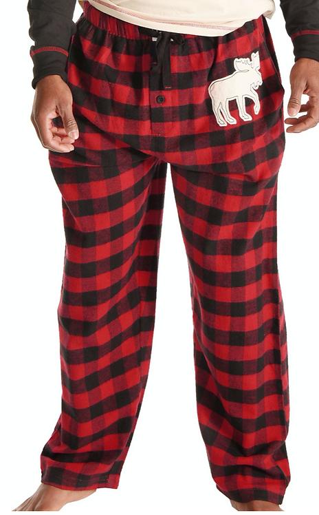 Unisex Plaid Moose Pants