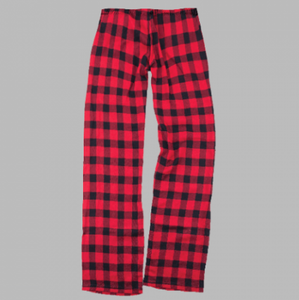 Red Check Lounge Pants | Youth