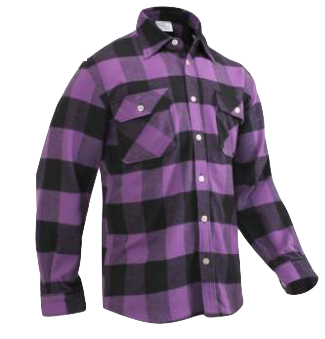 Extra Heavyweight Purple Plaid Flannel