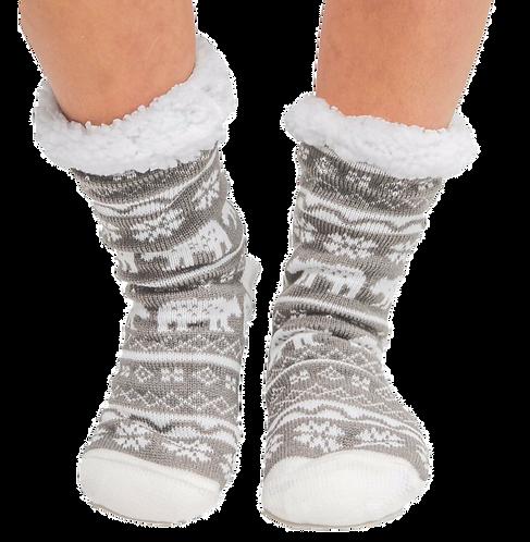 Nordic Bear Plush Socks