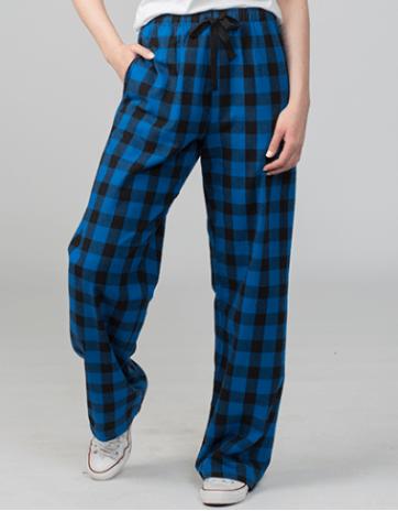 Blue Plaid Flannel Unisex Lounge Pants