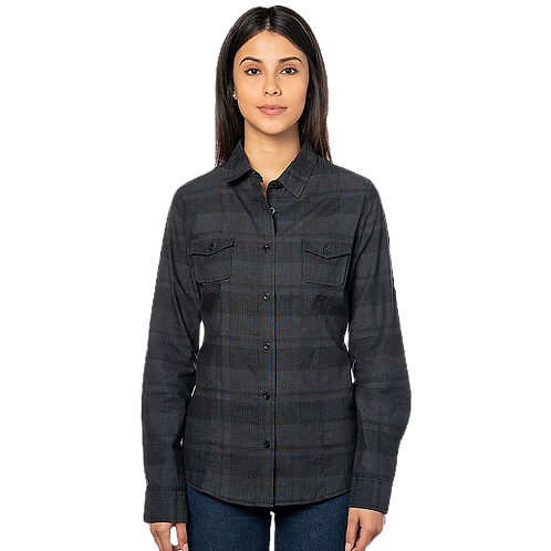 Grey Plaid Women'sFlannel