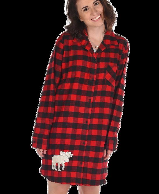 Plaid Moose Night Shirt